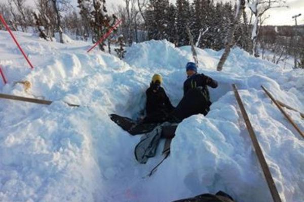 Speiderne på vinterovernatting