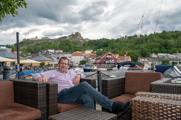 Hovedtaler Jon Løvland under årskonferansen i Halden. Nå skal han inspirere sommerfestdeltakerne i 2019.